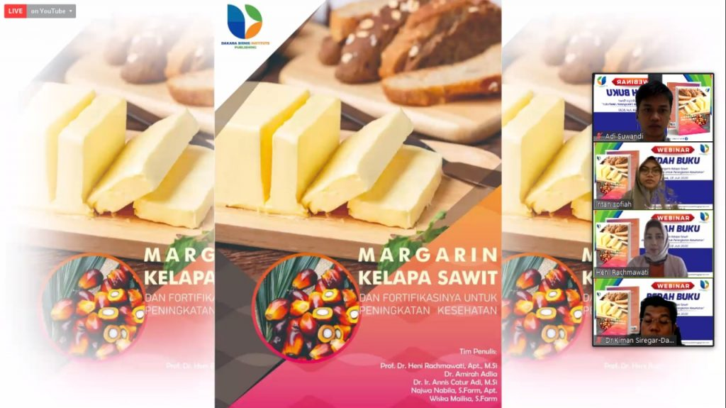 Laporan Kegiatan Webinar Bedah Buku Margarin Kelapa Sawit Dan Fortifikasinya Untuk Peningkatan Kesehatan Pusat Penelitian Nanosains Dan Nanoteknologi